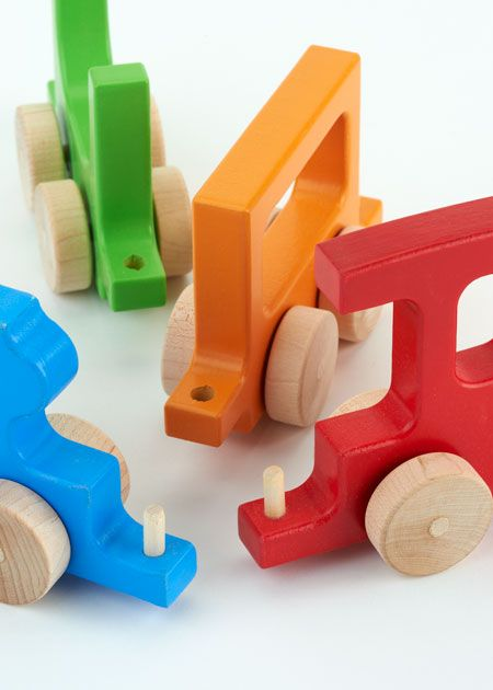 manny and simon Wooden Train Push Toy