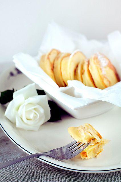 Completely lovely Polish Style Apple Pancakes. #pancakes #breakfast #brunch #food #apples #dessert