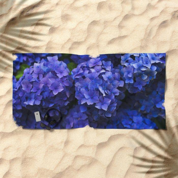 Hortensia Beach Towel by Mixed Imagery | Society6