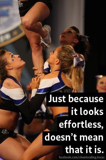 True! It takes SO much hard work to make it look so easy