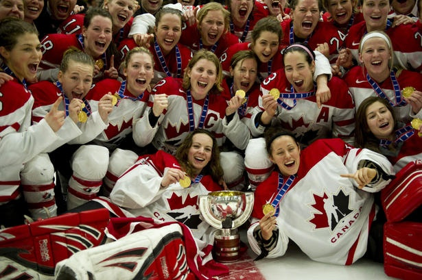 Women's Team Canada Hockey gold medalists 2010 (Vancouver)