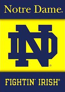 Notre Dame Fighting Irish ND Logo Poster - Premium NCAA Wall Scroll - Notre Dame University Sports