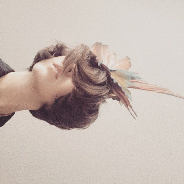 Pala Blue Macaw Feather Fascinator by Milliness on Etsy