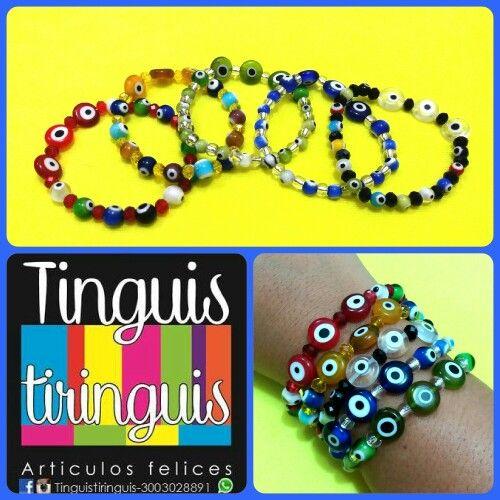 Pulseras Ojoalojo #tinguistiringuis #accesoriosfelices  #playerastyle $8K c/u