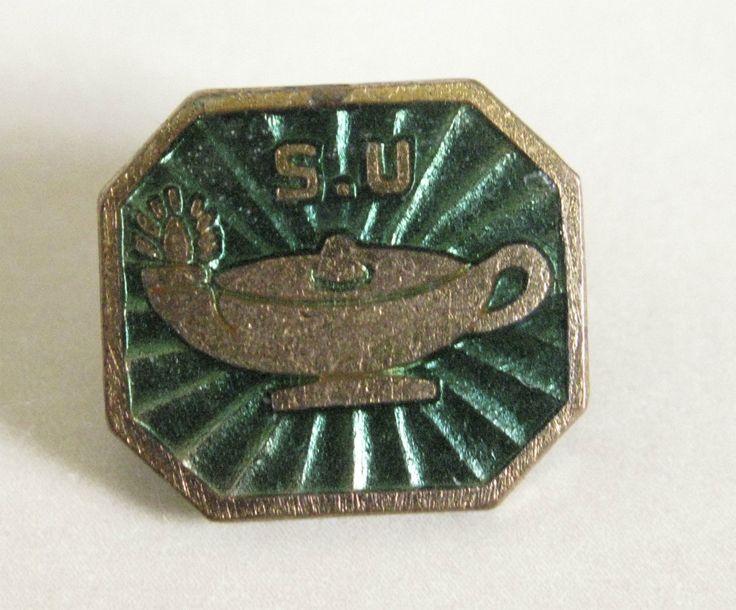 Vintage 1960s Scripture Union Green & Gold Enamel Pin Badge | eBay