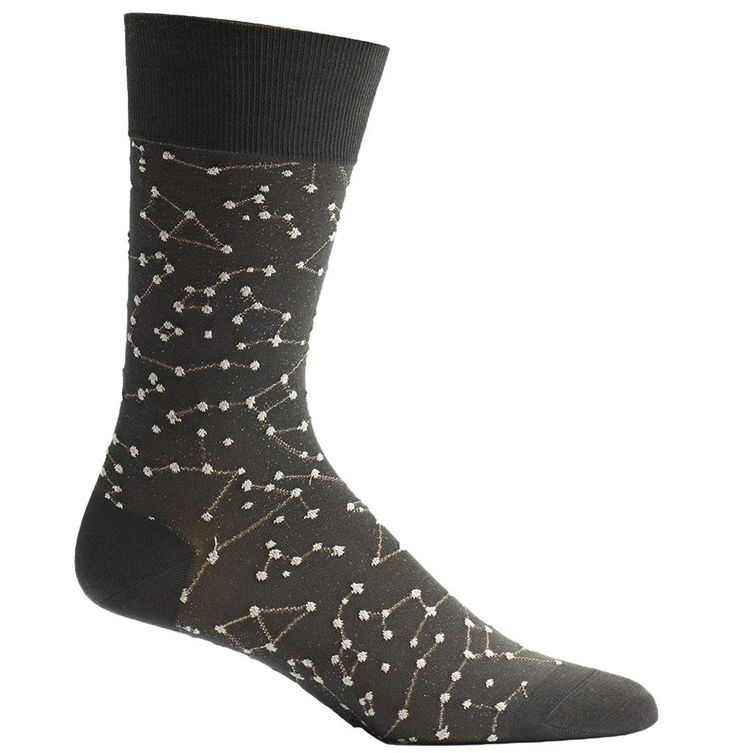 Ozone Men's Japanese Inspired Sheer Zodiac Over the Calf Socks, One Size