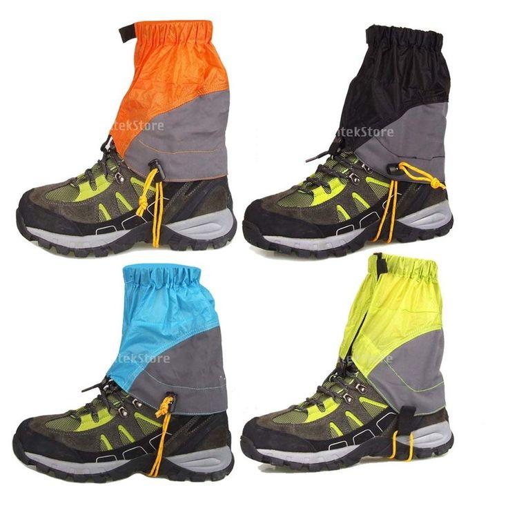 Waterproof Walking Hiking Hunting Climbing Nylon Ankle Gaiters Legging Cover #Unbranded