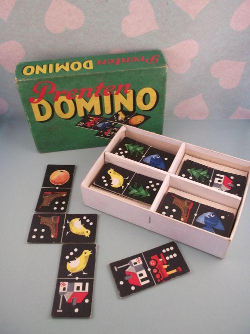 Leuk! Domino van vroeger! Ouderwets gezellig weer spelletjes spelen! http://www.hetvrolijkedametje.nl/vintage/toen-je-klein-was/domino