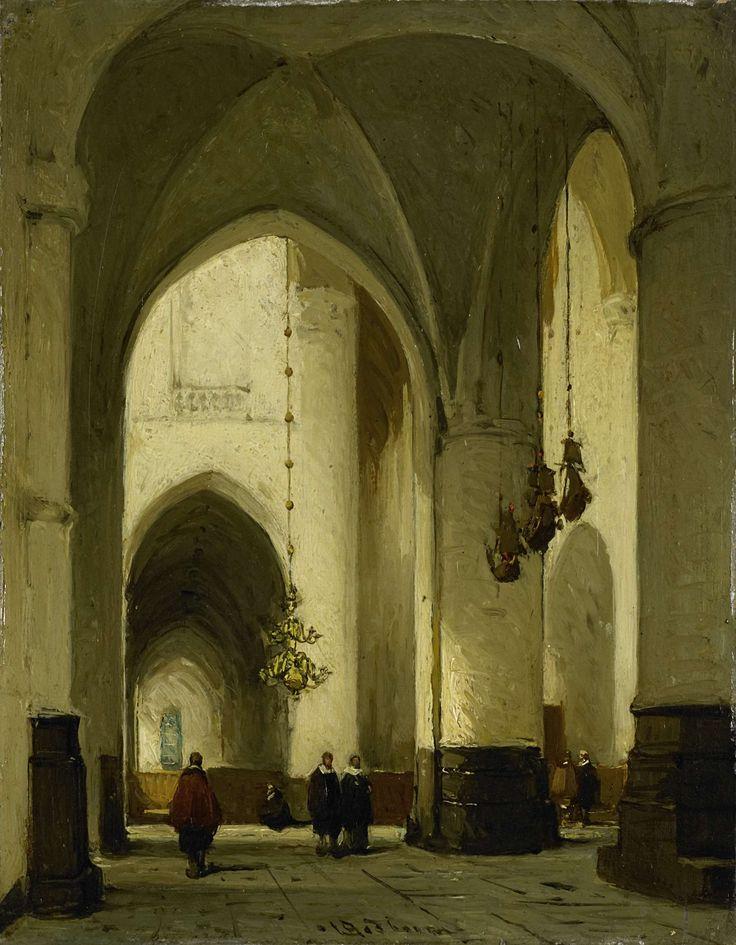 Interieur van de Grote of Sint Bavokerk te Haarlem, Johannes Bosboom, ca. 1860 - ca. 1891