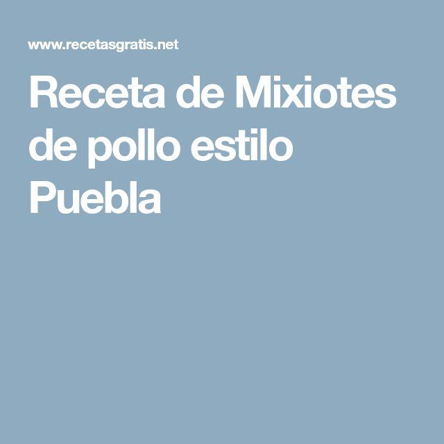 Receta de Mixiotes de pollo estilo Puebla