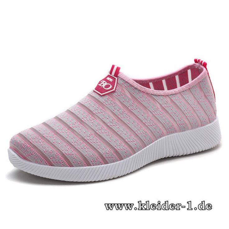 Damen Sneakers Gestreift in Rose