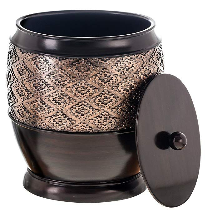 amazon: dublin small trash can with lid - decorative