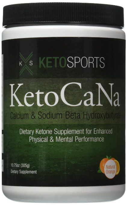 KetoSports KetoCaNa Dietary Ketone Supplement For Physical and Mental Performance, 10.75 oz.