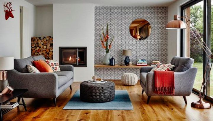 Ideas To Organize Your Living Room Without Focus Point Is On The Tv Living Room Decor Modern Retro Living Rooms Living Room Scandinavian