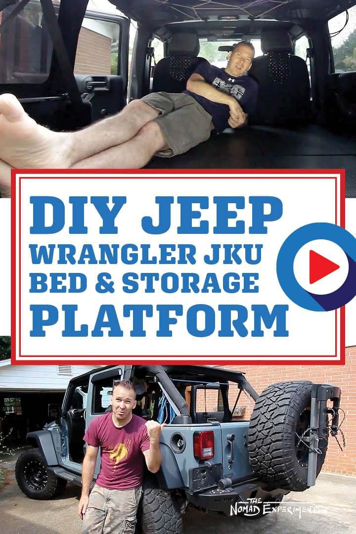 Jeep With Bed : Sleep, Wrangler, Door...Build, Nomad, Experiment, Learn, Travel, Wrangler,, Camping