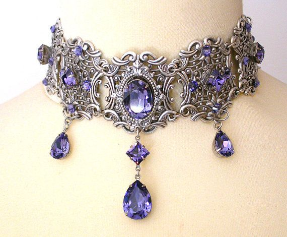 Tanzanite Swarovski Crystal ... from LeBoudoirNoir on Wanelo