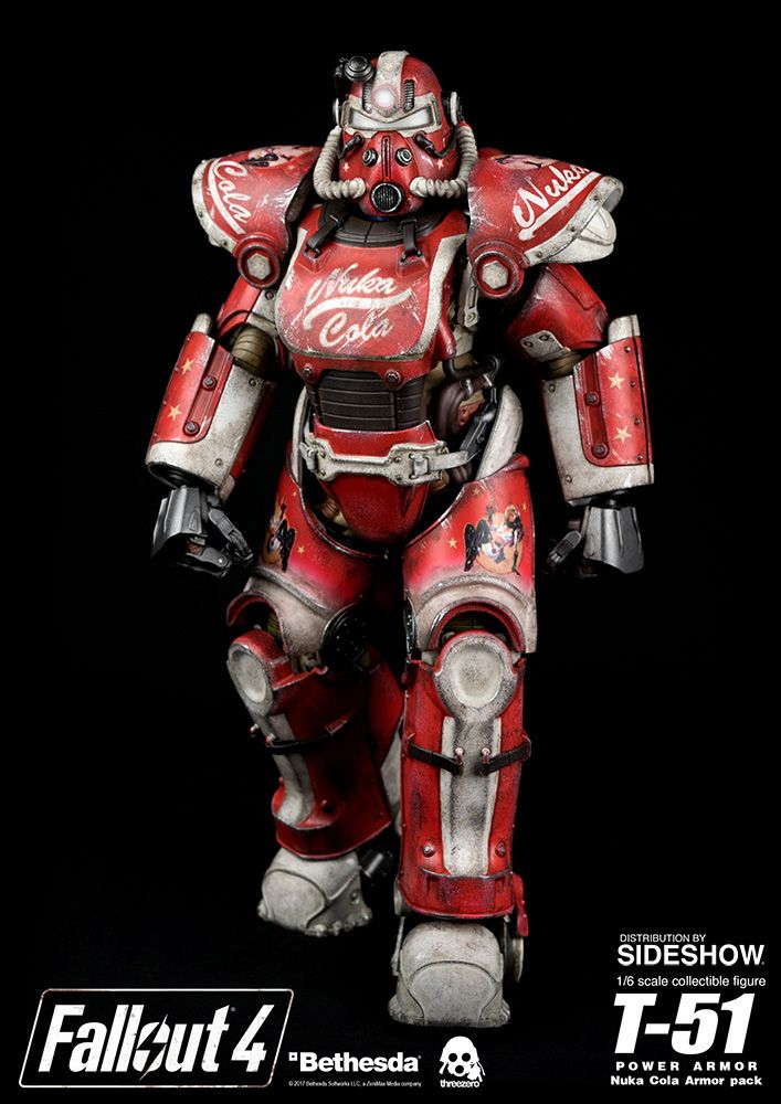 Fallout 4 T-51 Power Armor - Nuka Cola Armor Pack Sixth Scal | Sideshow Collectibles