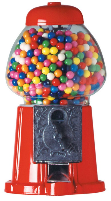 Old fashion bubble gum machine