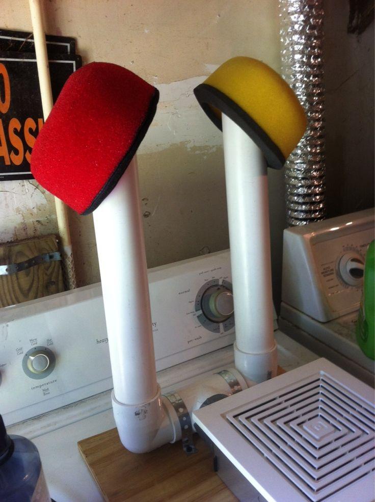 DIY boot/wader dryer