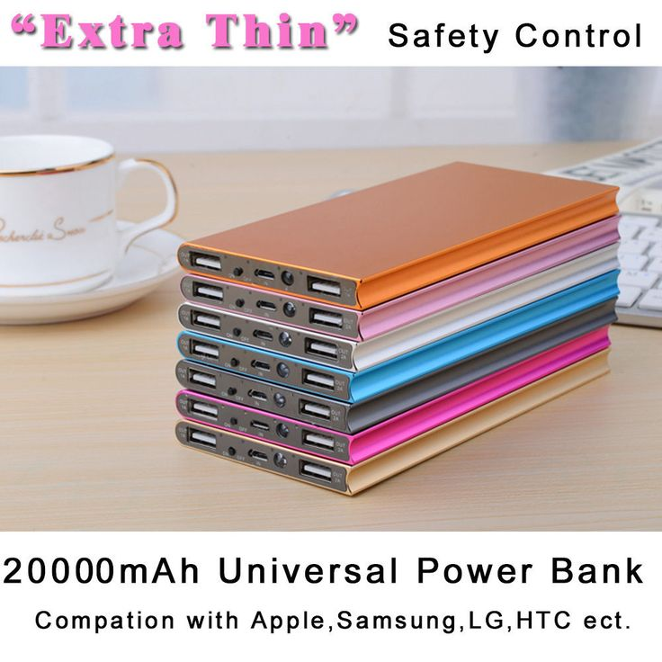 20000mAh Universal Power Bank Dual USB External Battery Charger For mobile phone