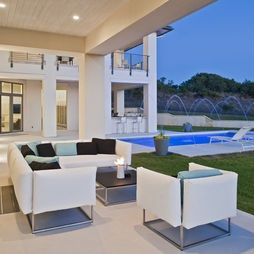 Outdoor Room Design, Pictures, Remodel, Decor and Ideas - page 113: Indoor Pools, Outdoor Rooms, Oak Resident, Accent Pillows, Contemporary Patio, Spanish Oak, Cornerston Architects, Outdoor Area, Pools Design