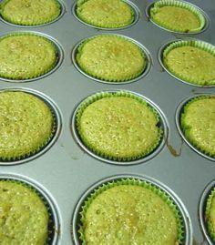 Magdalenas veganas de té verde (sin huevo y/o sin leche) y ganache de té verde.