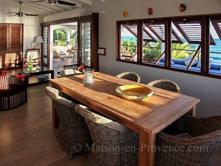 The dining room of the holiday rental Villa at Saint-François ,Guadeloupe - photo 22471 Credits Maison en Provence (TM) / The owner