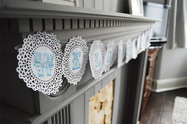 Things to do with doilies DIY Doily Bunting
