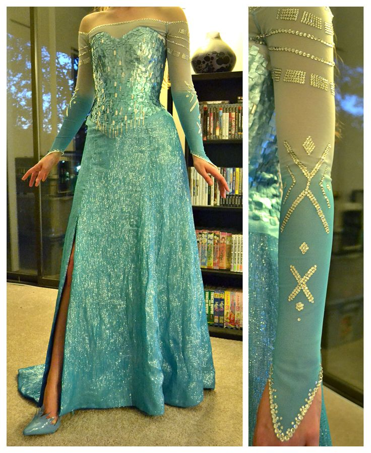 Elsa sleeve - Maybe not so high up the arm with the darker blue, but this looks really well done.