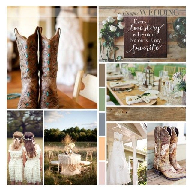 Country Style Wedding Moodboard by anna-nemesis on Polyvore featuring art, country and wedding