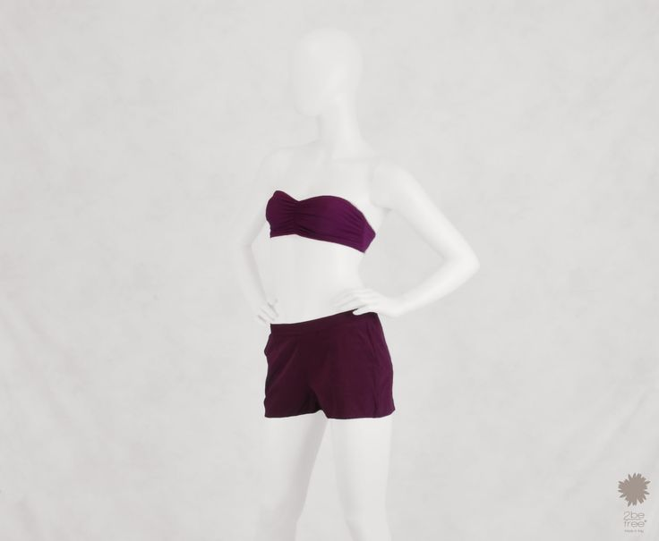 Ibiza Pancé - Shorts in dyed silk with side pockets