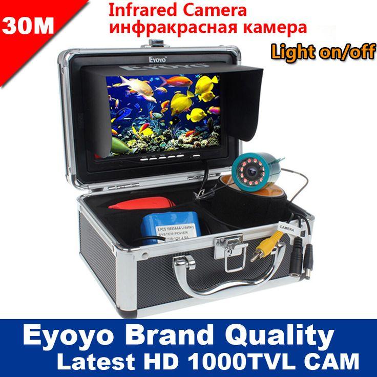 "Eyoyo Original 30M 1000TVL Fish Finder Underwater Fishing 7"" Video Camera Monitor AntiSunshine Shielf Sunvisor Infrared IR LED //Price: $138.92 & FREE Shipping //   #hashtag4    #athleticsdepot"