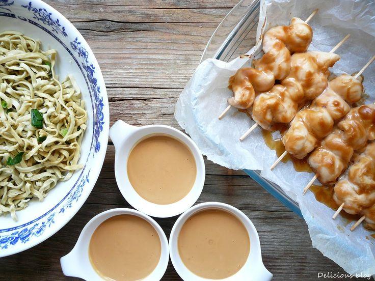Delicious blog: Kuřecí špízy s omáčkou Satay