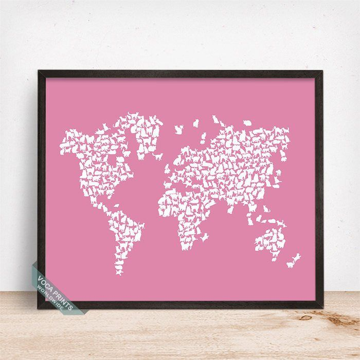 15 best images about Cat World Map Print on Pinterest  Cats