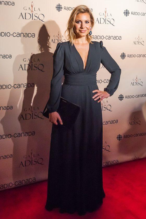 Magalie Lépine-Blondeau en Éditions de Robes pour le #GalaAdisq #modemtl Crédit : Loulou