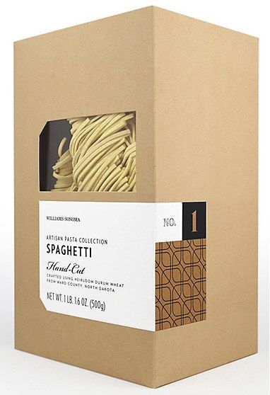 Williams Sonoma Artisan Pasta packaging