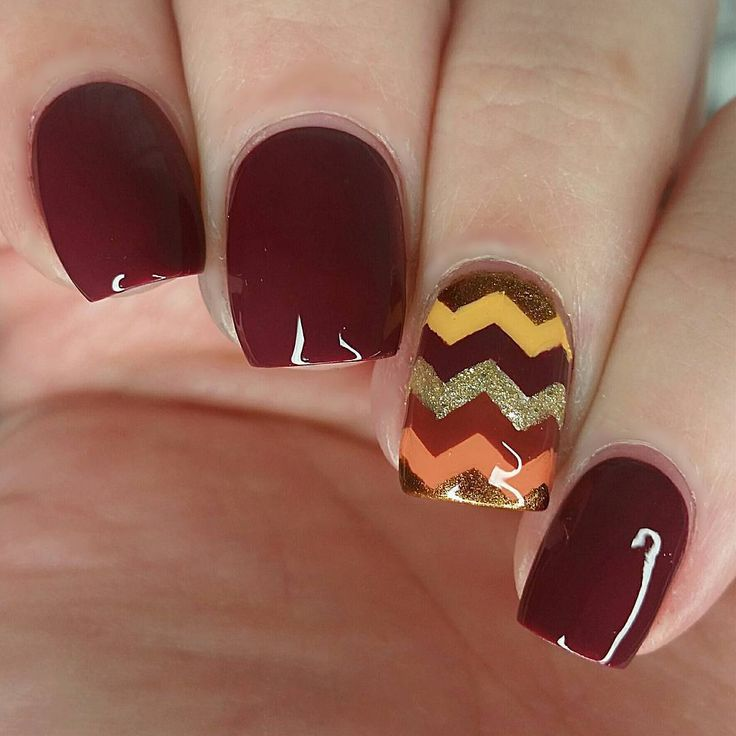 Adorable Thanksgiving nails by @nailstorming using Whats Up Nails regular zig zag tape from WhatsUpNails.com (link in bio). Shipping worldwide!