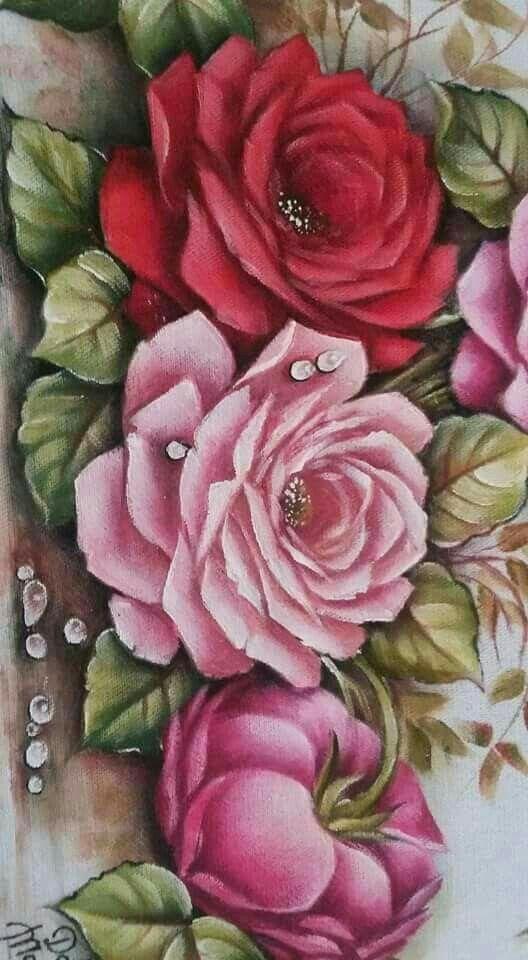 Картинки розы роспись