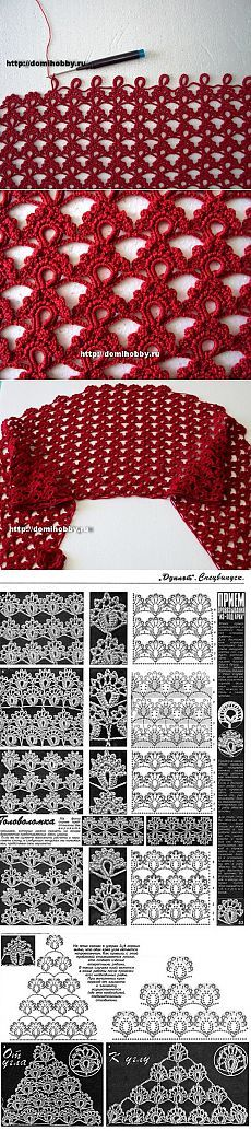 "Knitting: beautiful openwork pattern of the magazine ""Doublet"" 
