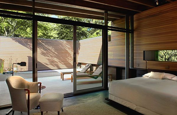 Bedroom: Relaxing Home With Enchanting Natural Details in Washington