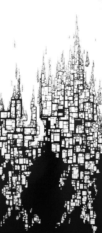 nathan richard phelps ink drawings:   oh... this is interesting.... what realm do you see?