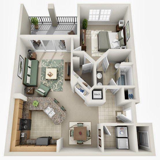 17 mejores ideas sobre peque o loft en pinterest for Diseno de casa de 7 x 17