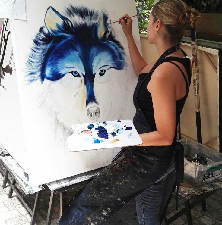 Avances 🐺🎨#pintando😍  #art #oleo #colores  #artemedellín #animales #amorporlosanimales