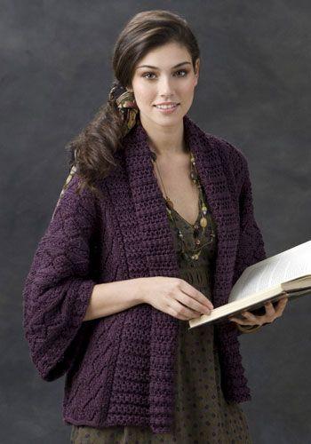 Free Knitting Pattern - Women's Jackets & Outerwear: Xian Knit Kimono Jacket