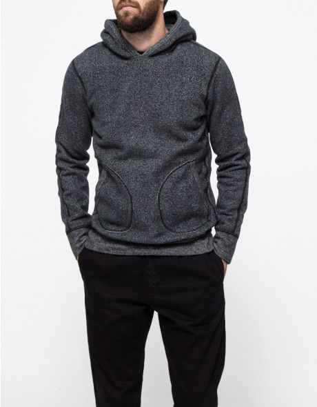 From Reigning Champ, a soft cotton blend pullover with interior fleece lining. Features a full hoodie, front pockets, exposed stitching and a relaxed fit throughout the body.   •Cotton blend pullover with interior fleece lining •Full hoodie •Fro