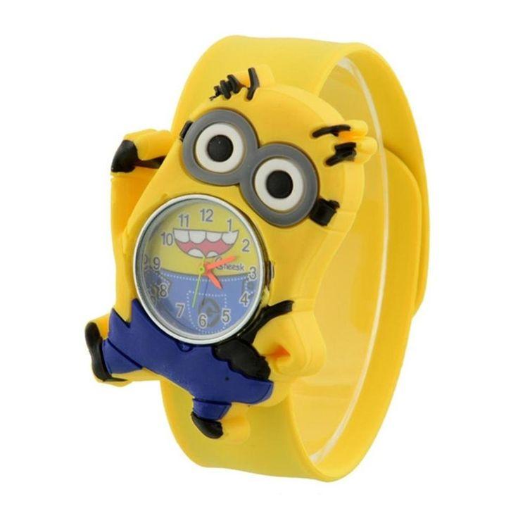 Niños niños dibujos animados de reloj de pulsera de cuarzo goma Bendable palmada Snap - comprar a precios bajos en la tienda en línea Joom
