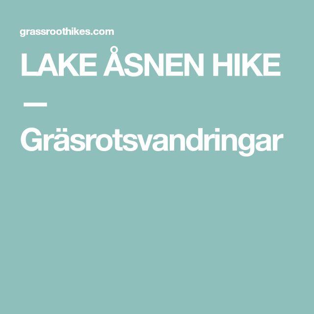 LAKE ÅSNEN HIKE — Gräsrotsvandringar