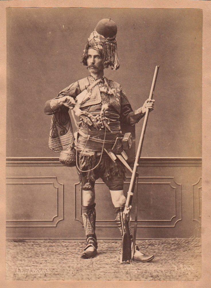Sebah, Pascal - Zeibek warrior, albumen print