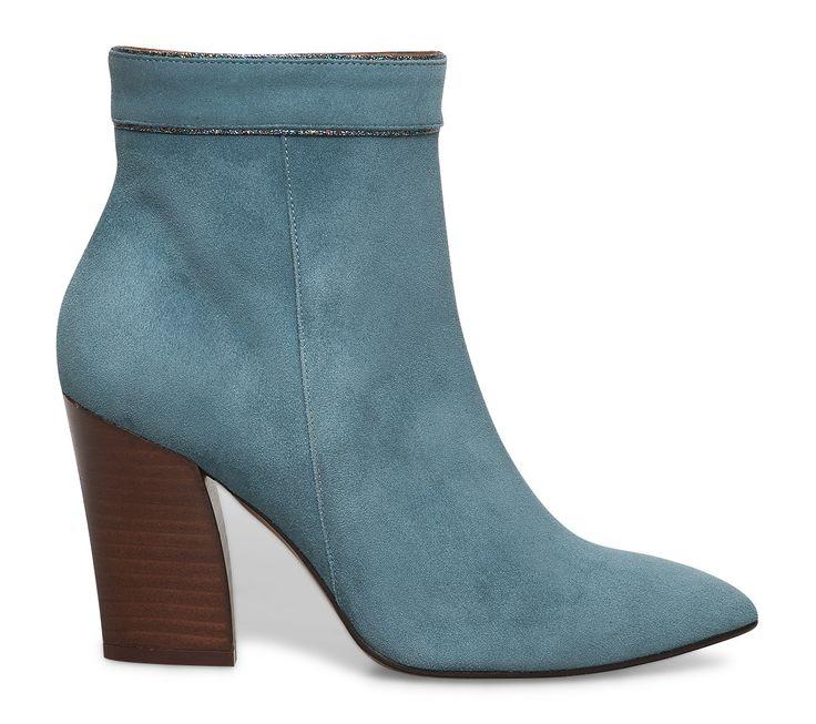 bottines bleues à talons - Boots / bottines - Chaussures femme