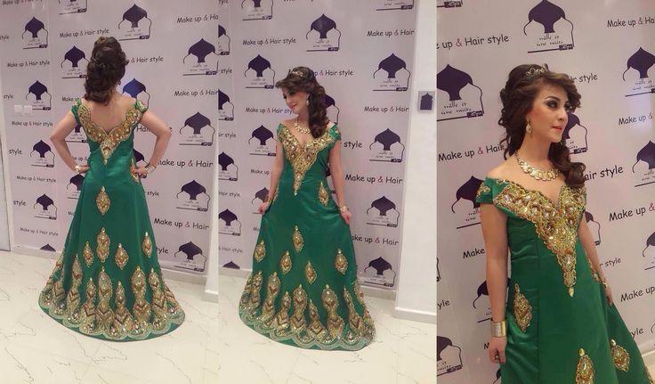 فستان اخضر رائع للتصديرة